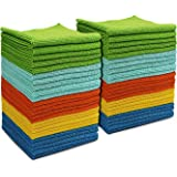 AIDEA Microfiber Cleaning Cloths All-Purpose Softer Highly Absorbent, Lint Free - Streak Free Wash Cloth for House…