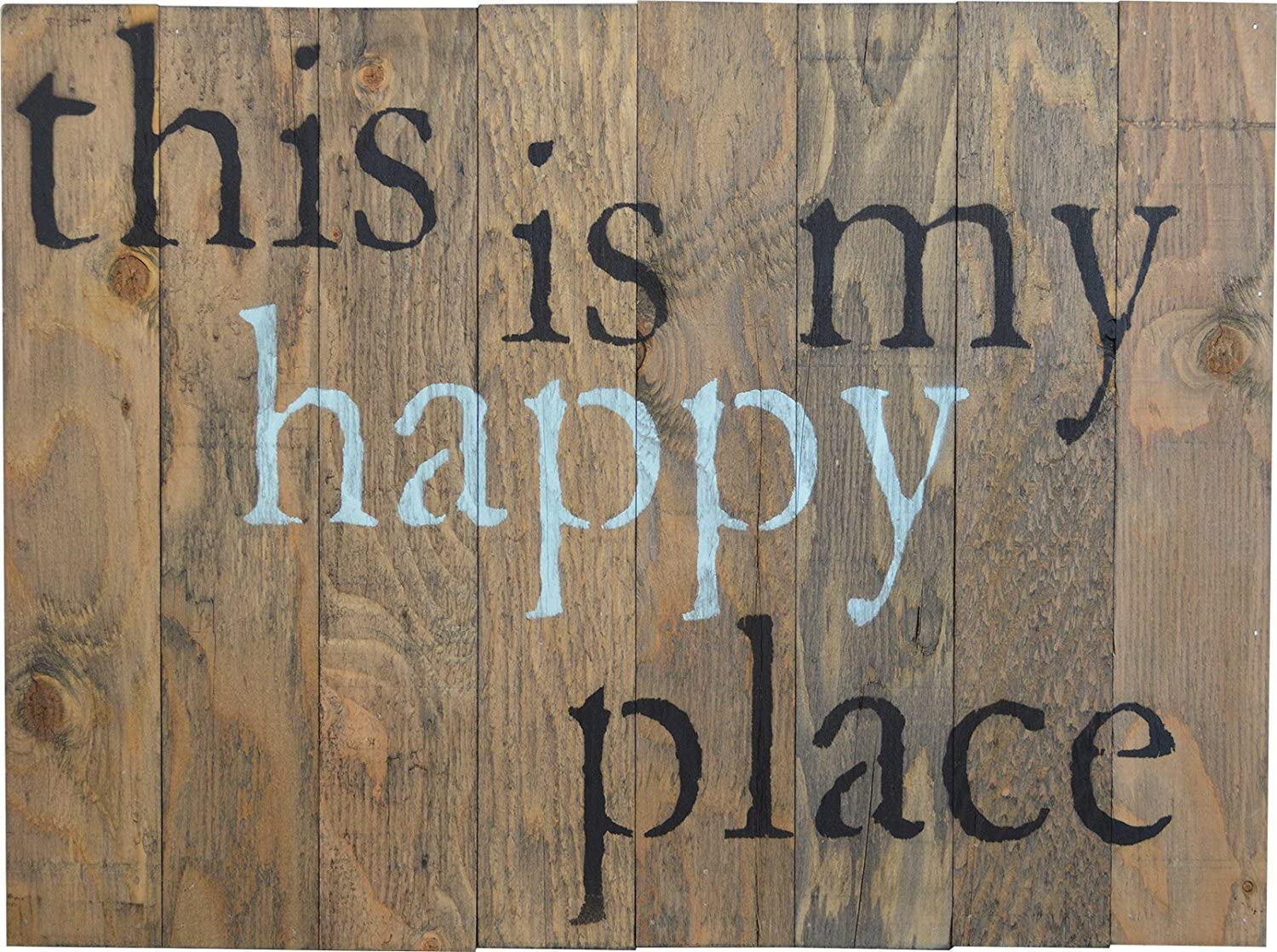 Happy Place wooden sign