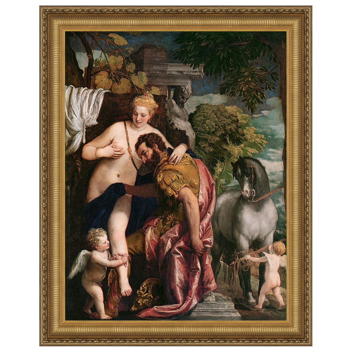 Design Toscano Venus and Mars United by Love, 1570: Canvas Replica Painting: Medium