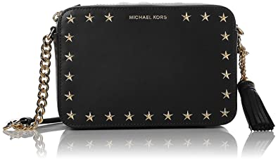 0592e2394265 Image Unavailable. Image not available for. Color  Michael Kors Ginny  Ladies Medium Black Leather Crossbody Bag 32F7GGNM2Y001