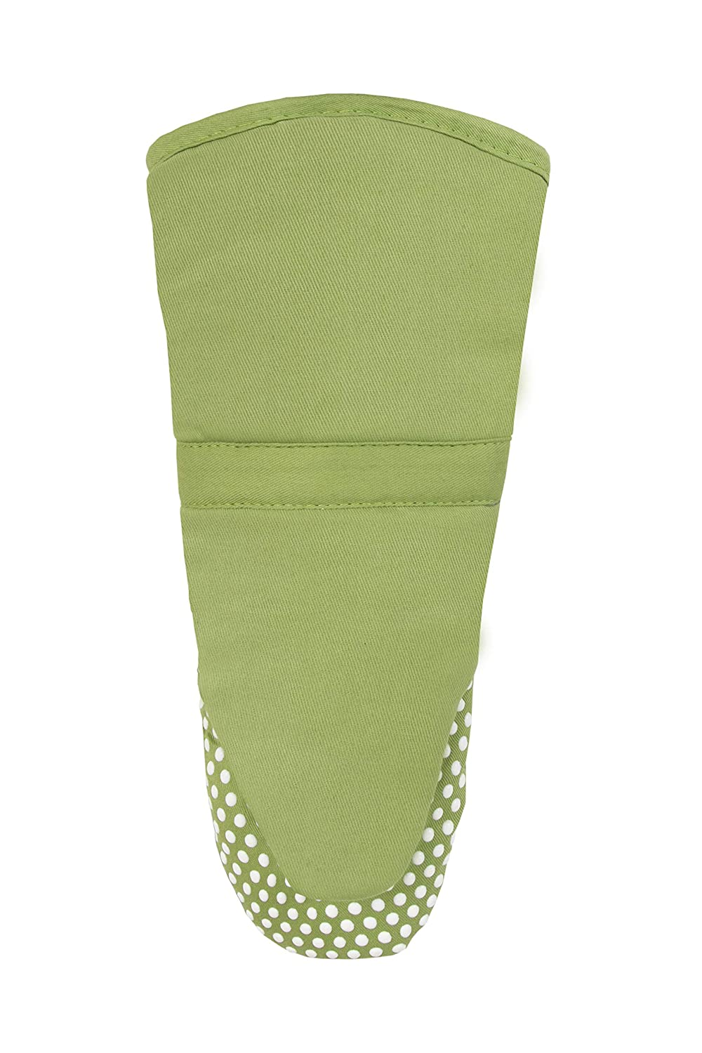 RITZ Royale Cotton Twill Puppet Oven Mitt with Silicone Dot Non-Slip Grip, 13-inch, Cactus Green