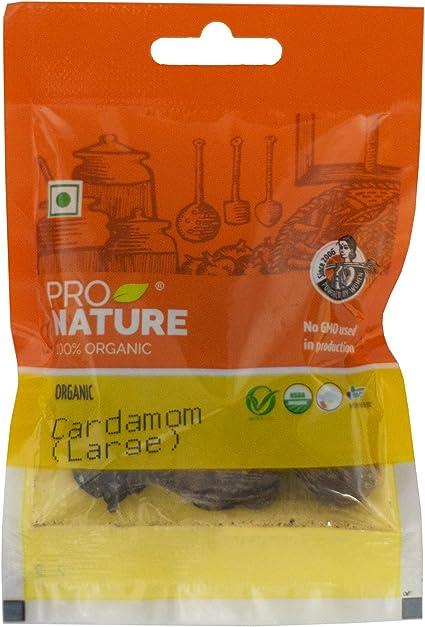 Pro Nature 100% Organic Cardamom (Large) 10g