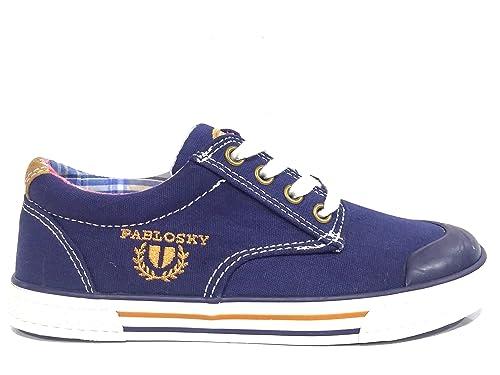 Zapatillas Lona Niño PABLOSKY Azul Cordones -942220- (32)