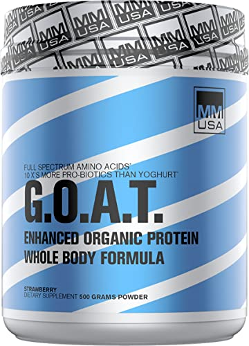 MMUSA Enhanced Organic Goat Protein, Whole Body Formula, 500g, Carribean Coconut