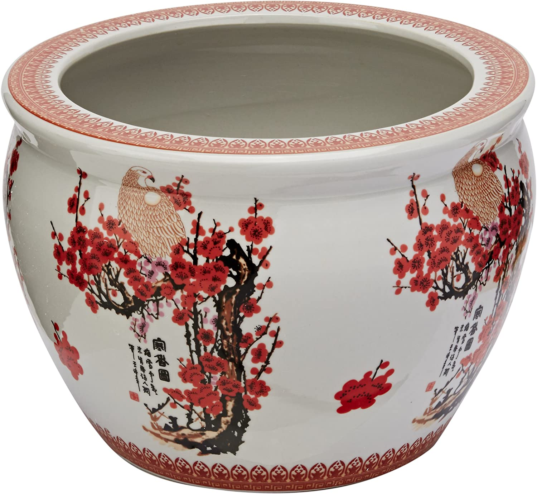 Pair Of Chinese Porcelain Lidded Ginger Jars #137066