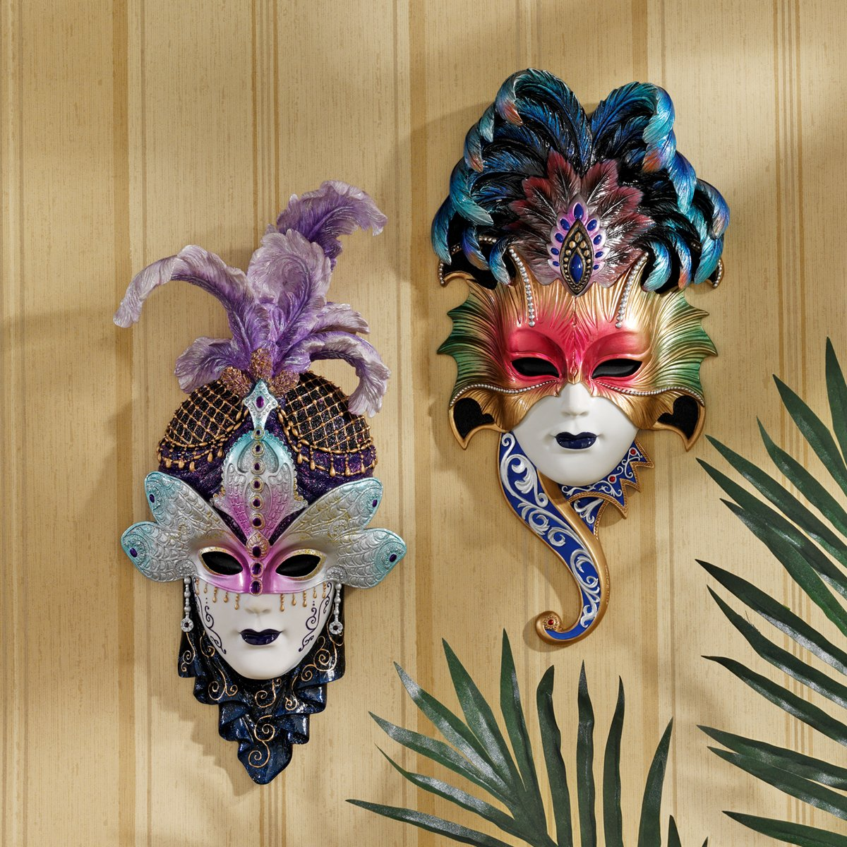 Amazon italian venetian art decor carnival masquerades amazon italian venetian art decor carnival masquerades maidens wall mask sculptures home kitchen amipublicfo Images