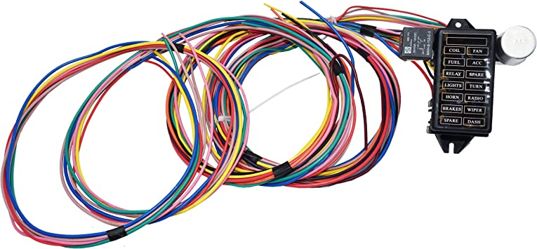 amazon.com: a-team performance 14-circuit basic wire kit small wiring  harness cable compatible with rat street rod sand car truck: automotive  amazon.com