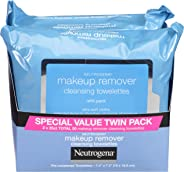 Neutrogena Makeup Remover Cleansing Towelettes, Daily Cleansing Face Wipes to Remove Waterproof Makeup and Mascara, Alcohol-F