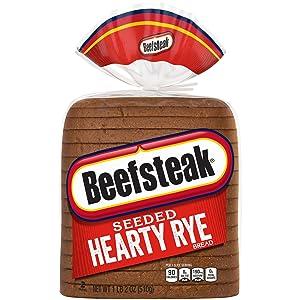 Beefsteak Hearty Rye Seeded Bread, 18 oz