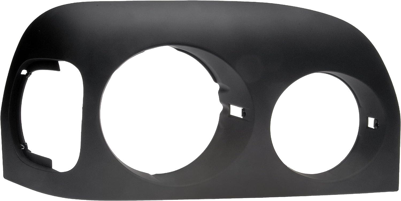 Dorman 889-5209 Passenger Side Headlight Bezel for Select Freightliner Models Black