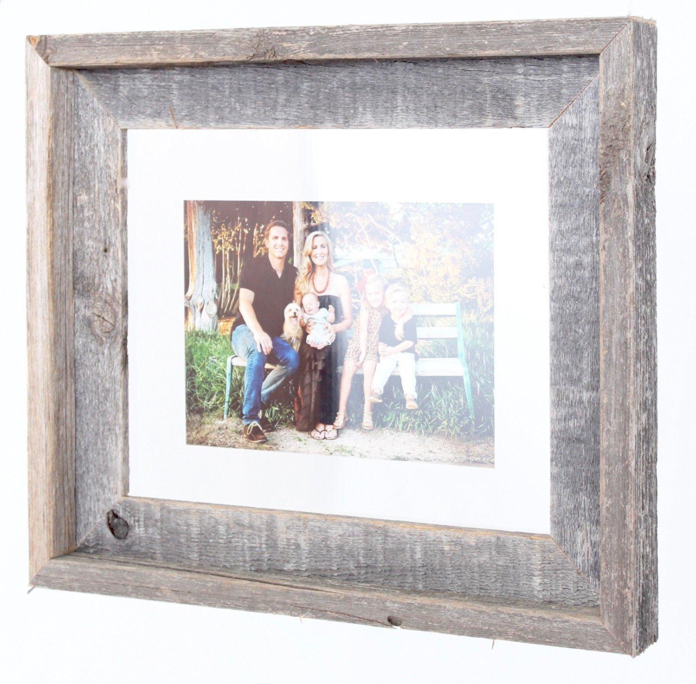 Amazon.com - BarnwoodUSA 16x20 Signature Reclaimed Wood Float Frame ...