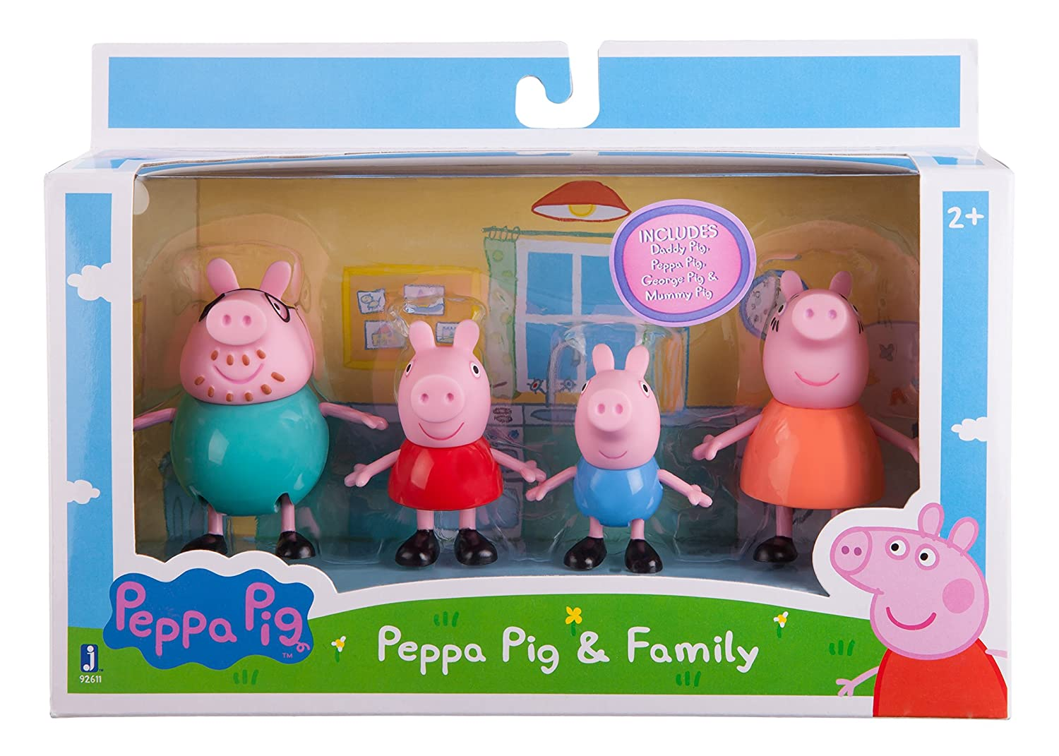 amazon com peppa pig family pack toys u0026 games