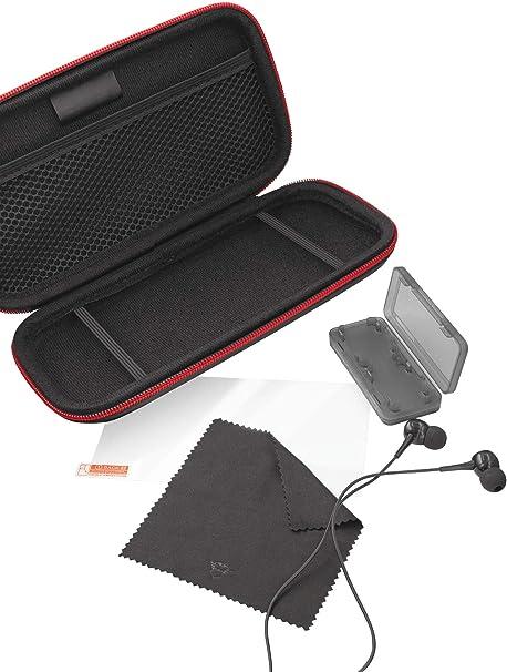 Trust Funda Nintendo Switch Lite GXT 1241 Tidor XL - Pack de accesorios 4 en 1 con