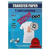 PPD A4 x 10 vellen PREMIUM Inkjet T-shirt Transfer Papier voor Inkjet printers - Transparante transfer folie speciaal…
