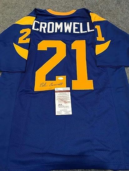 brand new a7a2d c7edd Nolan Cromwell Autographed Signed L.A. Rams Jersey - JSA ...