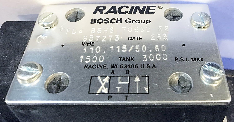 Bosch Rexroth AG Racine 657273 FD4 BSHS 706SD 62 110//115 Directional Hydraulic Control Valve