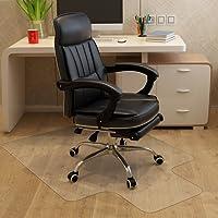 MATDOM Bodenschutzmatte, 120x90cm Extra Transparente Bürostuhlmatte mit Tüv, Starke und Freundliche Schutzmatte, Anti-Rutsch für Harte Böden, Laminat, Parkett und Fliesen