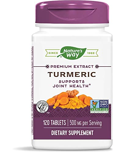 Nature's Way Premium Turmeric Extract, 500 mg per'serving, 120 Capsules Packaging May Vary
