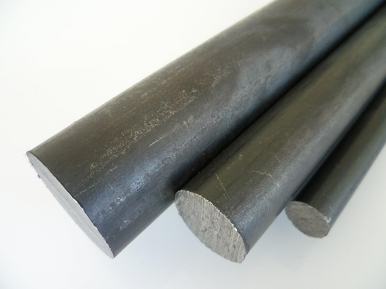 B /& t m/étal acier rond 37 sT drm simplement /ø 25 mm-noir-longueur environ 1,0 m 1000//0 mm - 3 mm