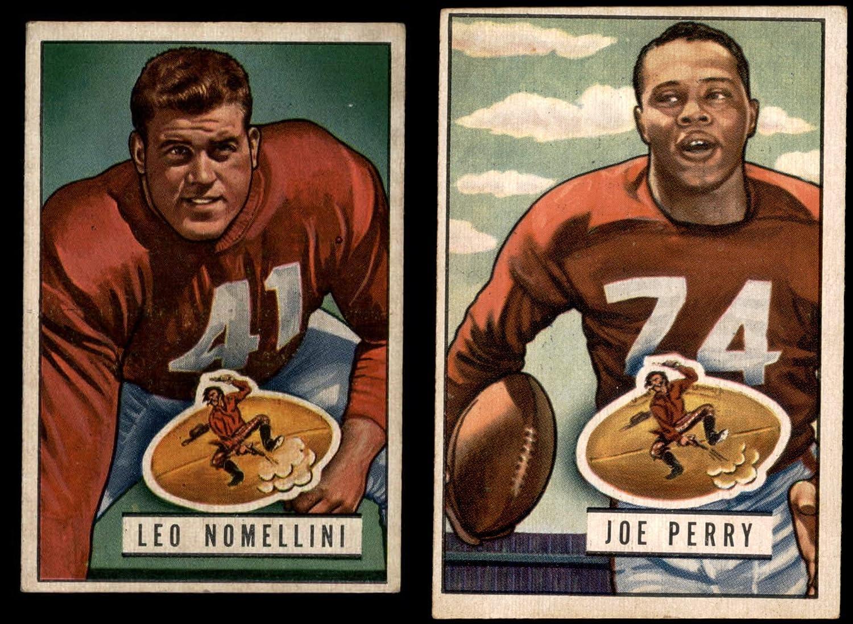 1951 Bowman San Francisco 49Ers in der Nähe von Mannschaft Satz San Francisco 49Ers (Baseball Set) Dean'S Cards 5 - Ex 49Ers