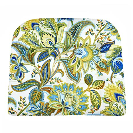 Patio Chair Cushion   Valbella Blue And White Floral   Size Large   Indoor  / Outdoor