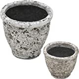 陶器植木鉢 フォレストポット 風花(かざばな) 大小サイズ 6.5号&4.5号 各4個セット FPOT-LS4-S24LS4