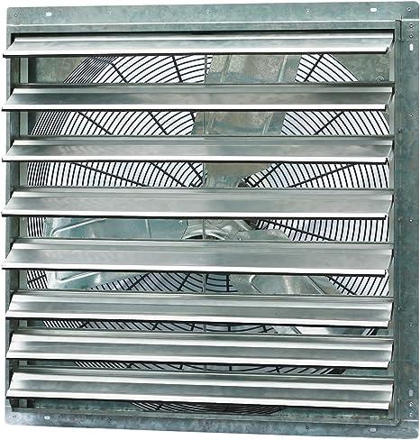 Commercial Restaurant Greenhouse Shutter Exhaust Fan Moisture Odor Heat Remover