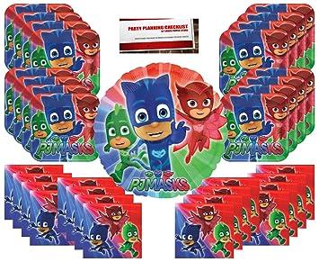 PJ Masks Party Supplies Bundle Pack for 16 (Bonus 17 Inch Balloon Plus Party Planning