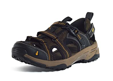 Ahnu Kovar Sport Sandals, Smokey Brown, Men (10)