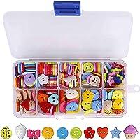 240 Piezas Botón Costura de Colores Mezclados Botones