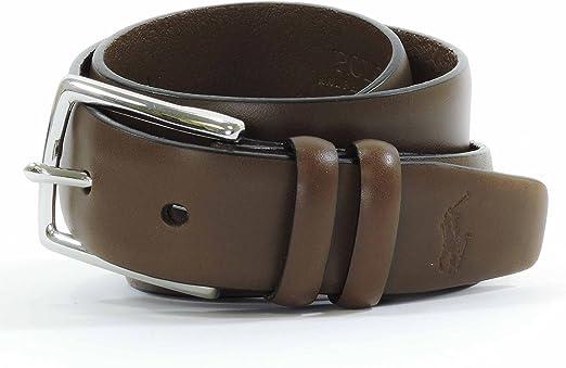Polo Ralph Lauren Cinturón de piel para hombre: Amazon.es: Ropa y ...