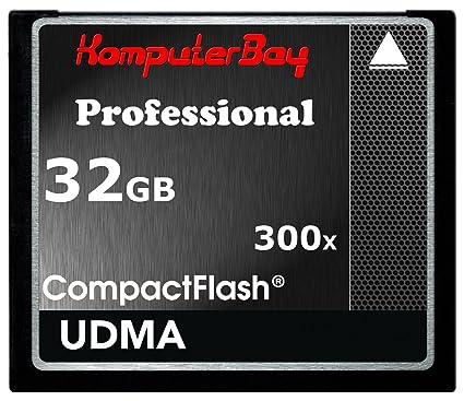 Komputerbay KB_32GBCF_300X - Tarjeta de alta velocidad Compact Flash de 32GB (CF 300X Ultra alta velocidad de 10 MB/s de escritura y 52MB/s de ...