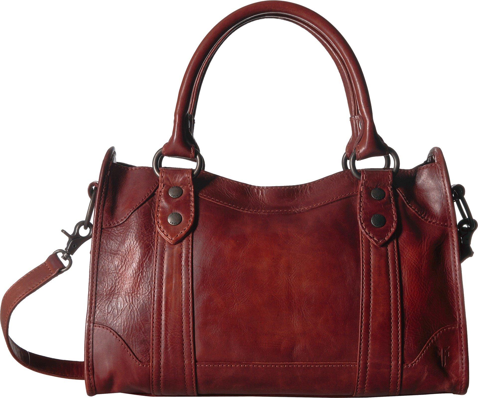 FRYE Melissa Zip Satchel Leather Handbag, red clay