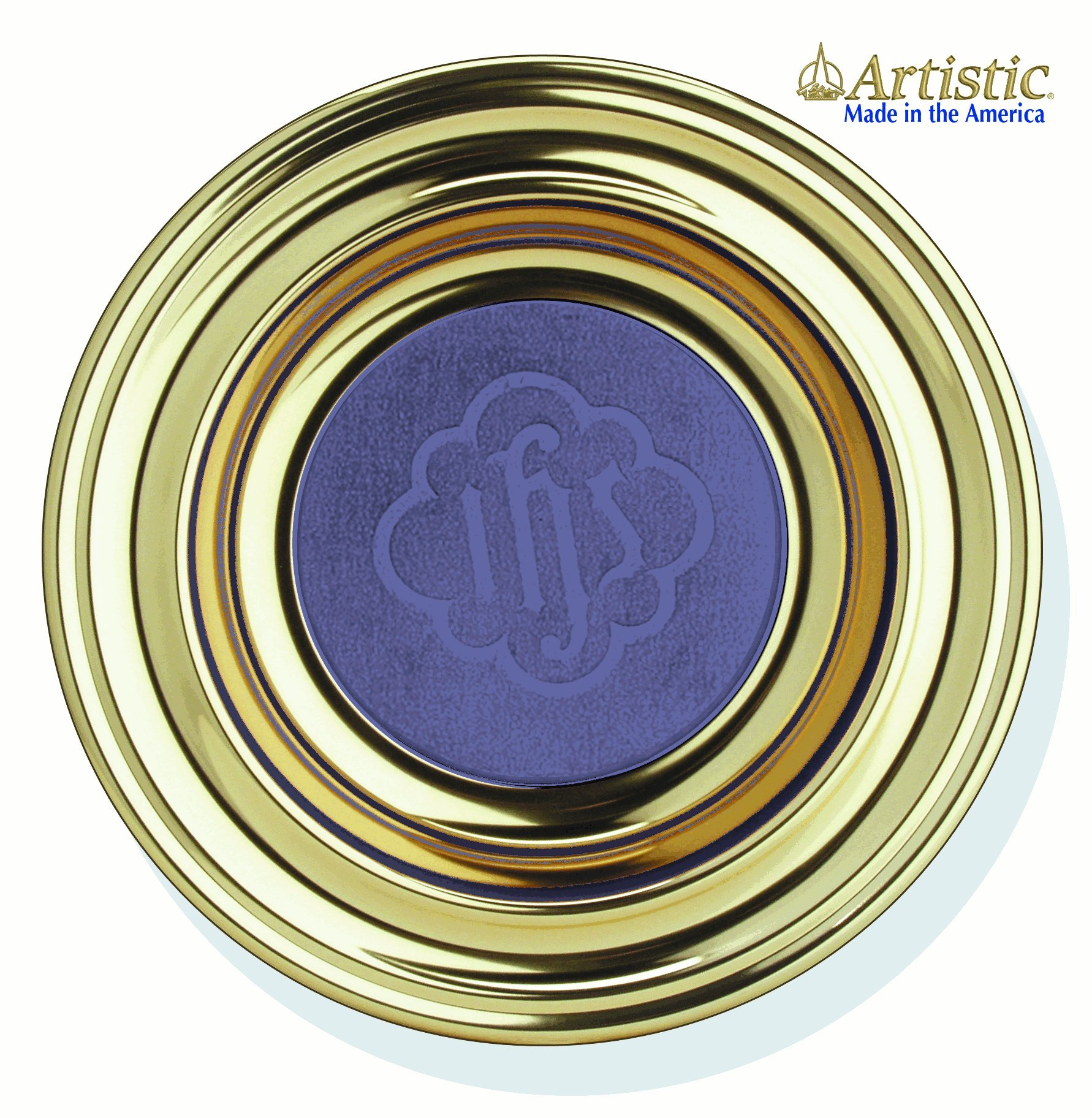 Download Offering Plate Brasstone Blue: RW225ABBL PDF