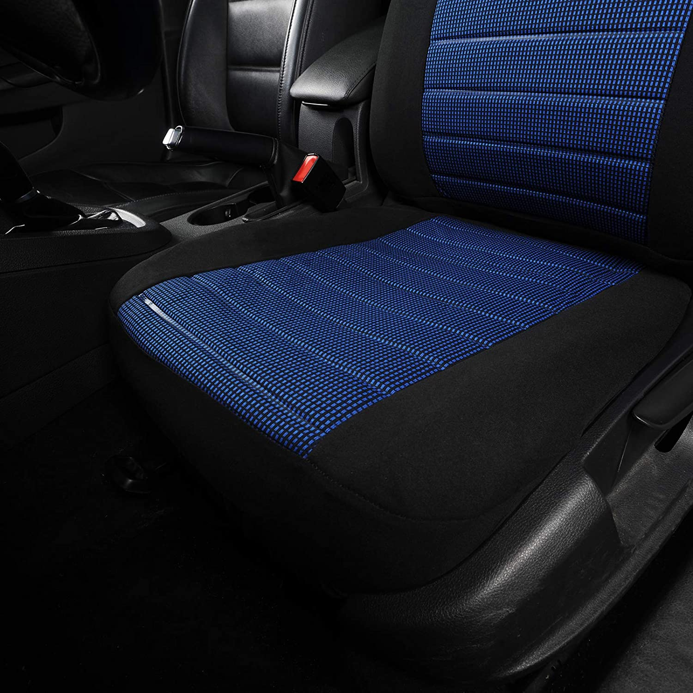 9 Unidades Completo Tela Negra Cubreasientos para Coche VW Lupo Tiguan Caddy