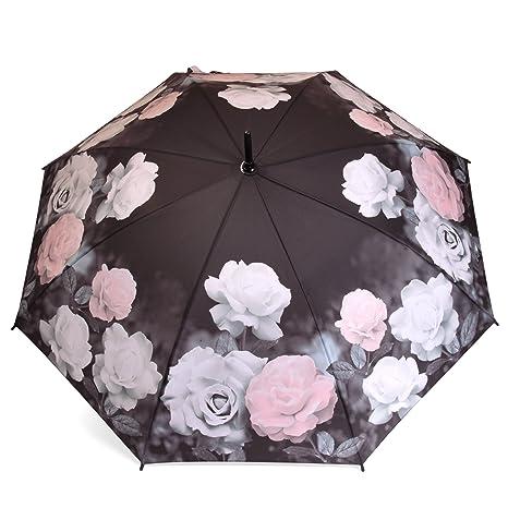 Bastón de rosas Mujer de paraguas