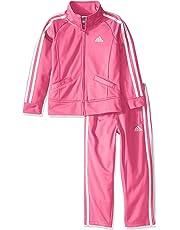 adidas Baby Girls' Tricot Pant and Jacket Active Clothing Set