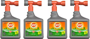 Off! Bug Control Yard Pretreat, 32 Ounce (Pack of 4)