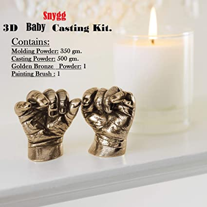 Snygg 3D Molding-350 g, Casting Powder 500 g Kit for Baby Hand and Foot Cast