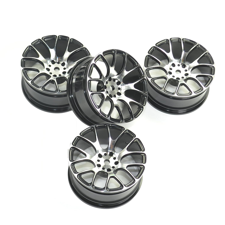 RcAidong 4PCS RC 1:10 Aluminum On-Road Drift Racing Wheels for HSP HPI Kyosho MST 1:10 On-Road Drift Car