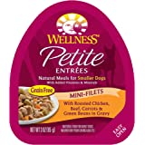 Wellness Petite Entrees Natural Grain Free Wet Small Breed Dog Food, 3-Ounce Cup (Pack of 24)