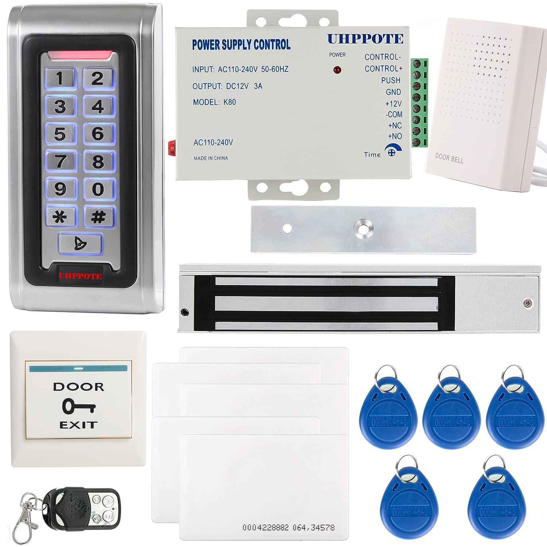 HPPOTE 金属製キーパッドセット RFIDカードリーダー アクセス制御システム用 IDカード 電気ロック ベル B01C8CWLR2