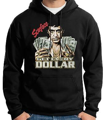 35mm - Sudadera con Capucha - Scarface Get Every Dollar- Tony Montana - Hoodie: Amazon.es: Ropa y accesorios