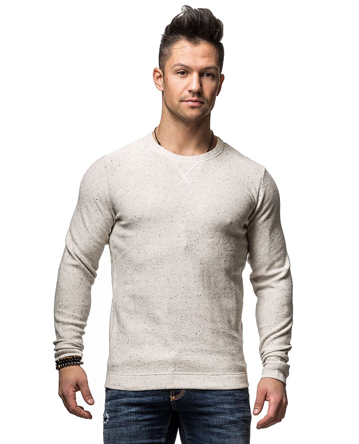 SELECTED - Crew-neck Sweaters - Men - Off-White Hunter Flecked Round-Neck Sweater for men