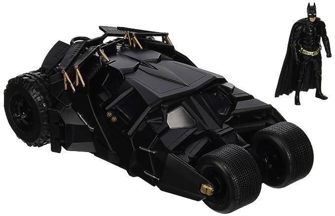 Jada Toys – Batmobil Batman The Dark Knight – mit Figur – 2008 – Maßstab 1/24, 98261bk, Schwarz
