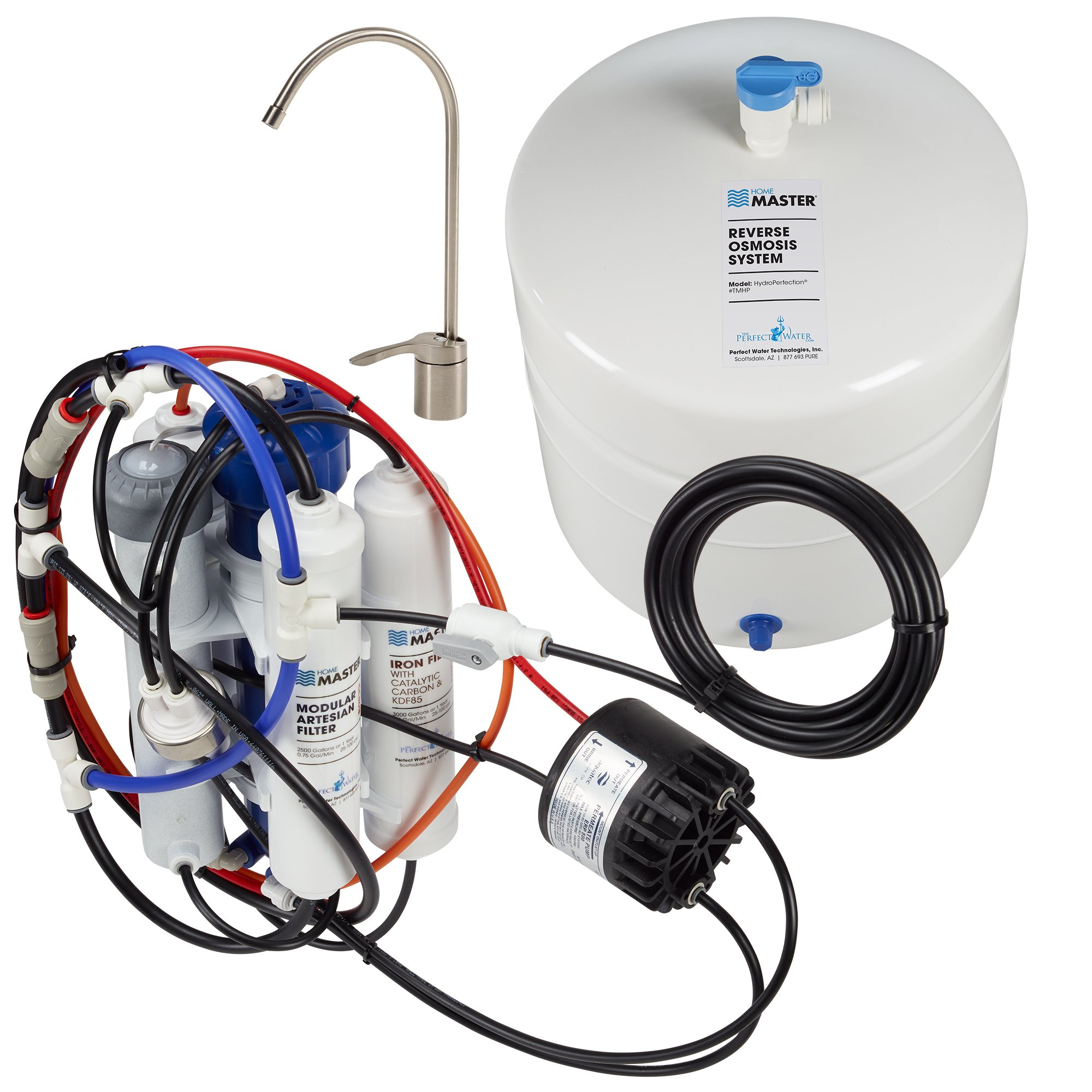 Home Master TMHP-L Hydroperfection Loaded Undersink Reverse Osmosis Water Filter System product image