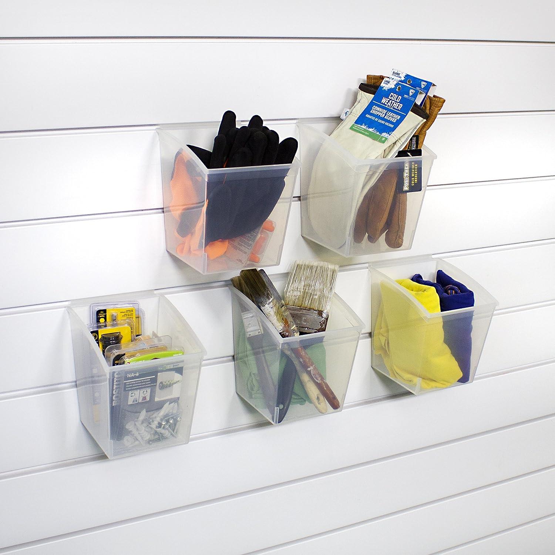 10-Pack Proslat 3210 Probin Storage Bin Designed for PVC Slatwall Small