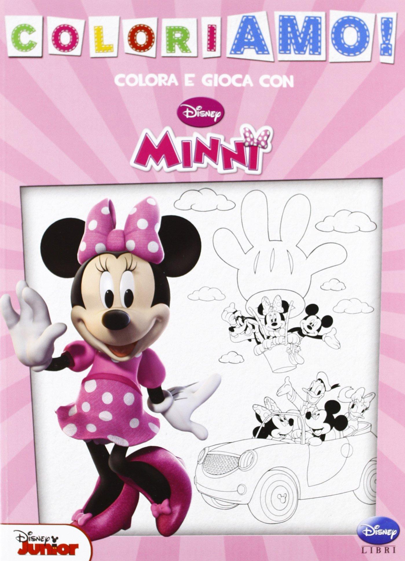 Minnie Coloriamo Amazon It Disney Libri