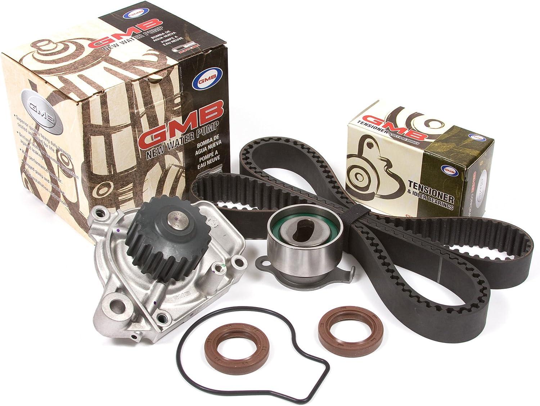 Evergreen TBK143VCT Fits 88-95 Honda Civic Del Sol 1.5 SOHC D15B1 D15B2 D15B6 D15B7 D15B8 Timing Belt Kit Valve Cover Gasket Water Pump