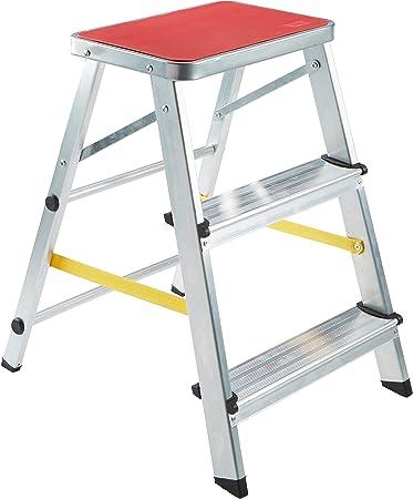 ORYX 23010015 Escalerilla Aluminio Oryx 3 peldaños Uso Doméstico: Amazon.es: Bricolaje y herramientas